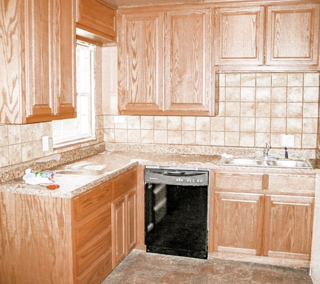 remodeled kitchen wood cabinets
