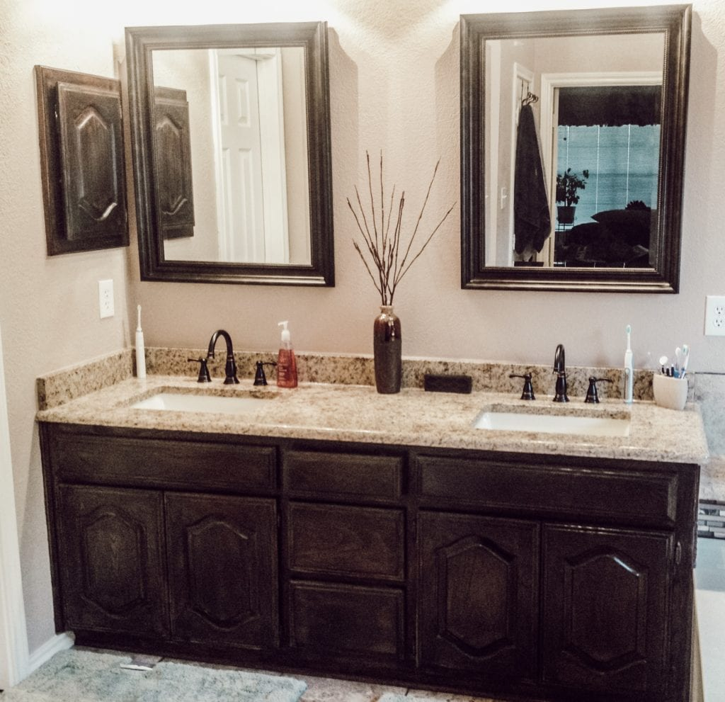 double vanity bathroom remodel