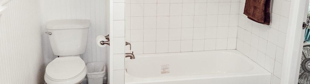 bathroom remodel all white