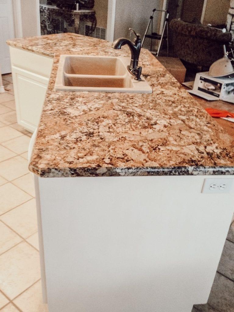 granite countertops and sink
