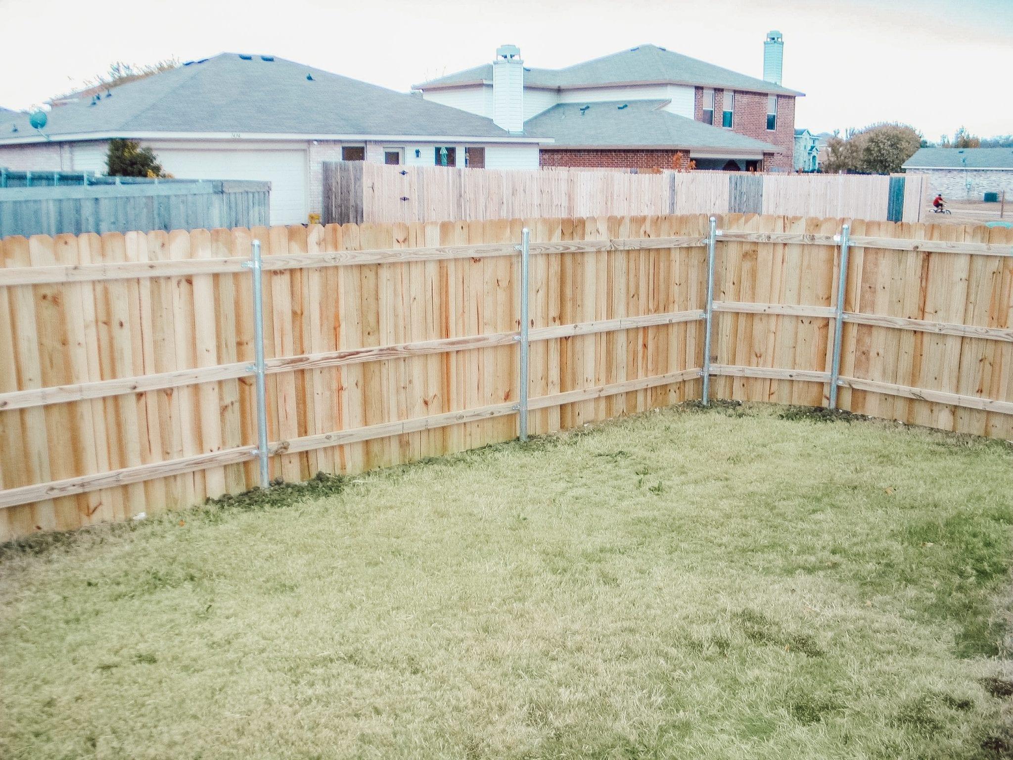 fence in greenville, tx neighborhood