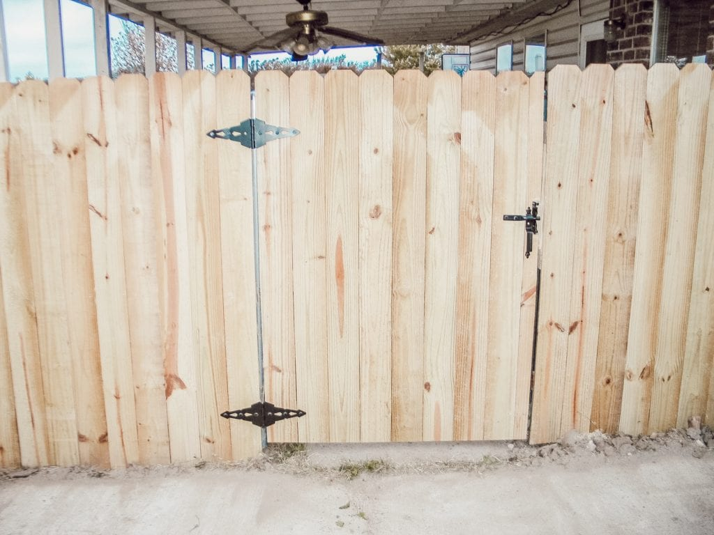 wood fence gate in greenville, tx