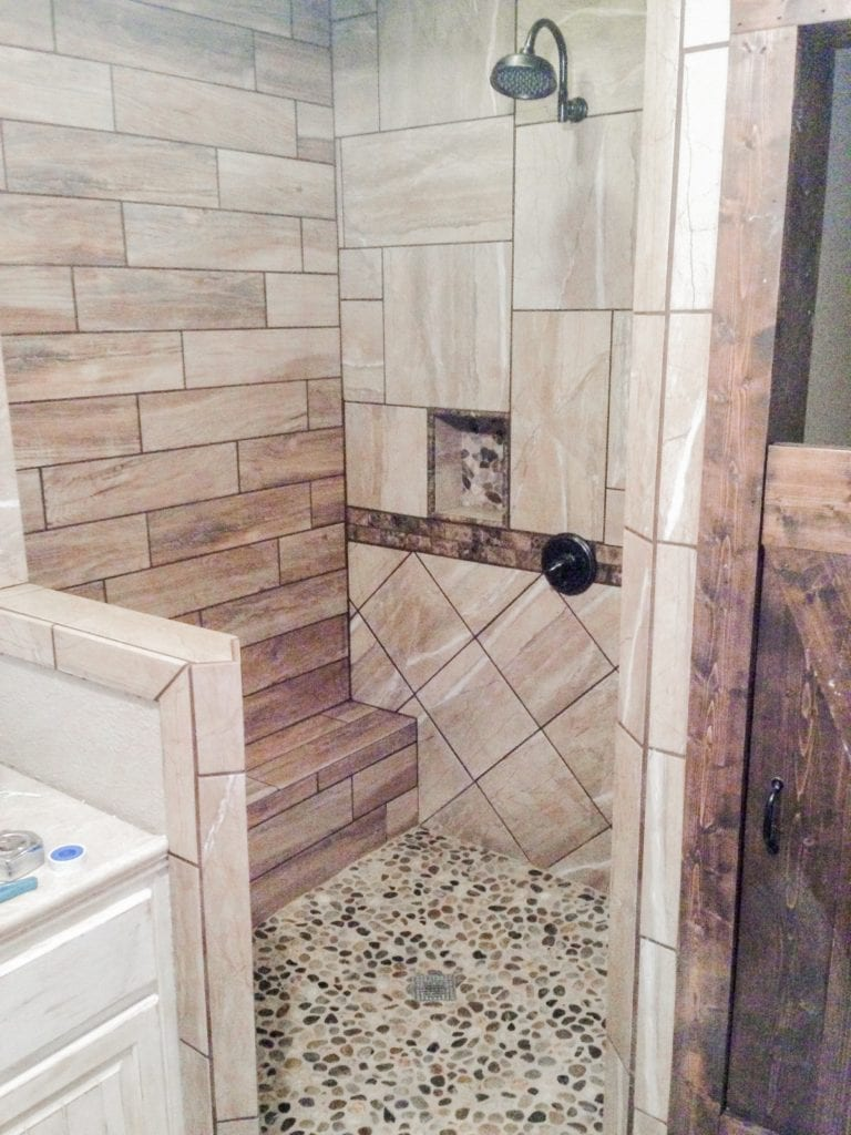 shower remodel by h&h construction and restoration