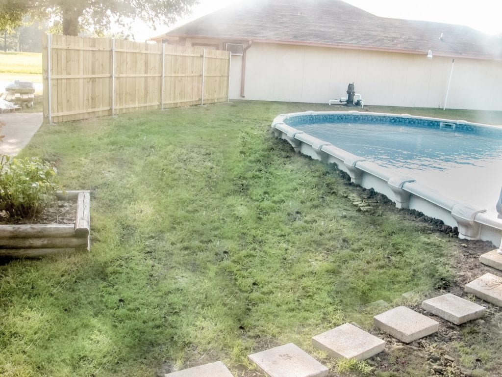 pool and new fence