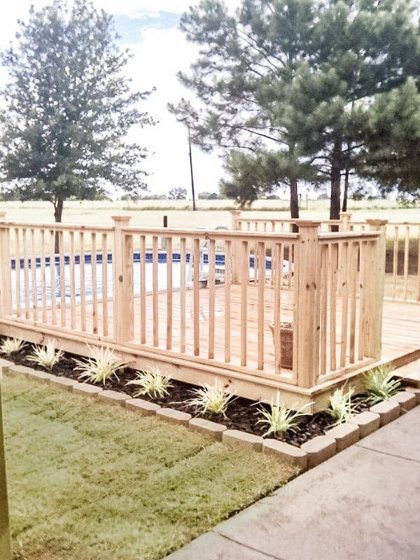 new deck with planters