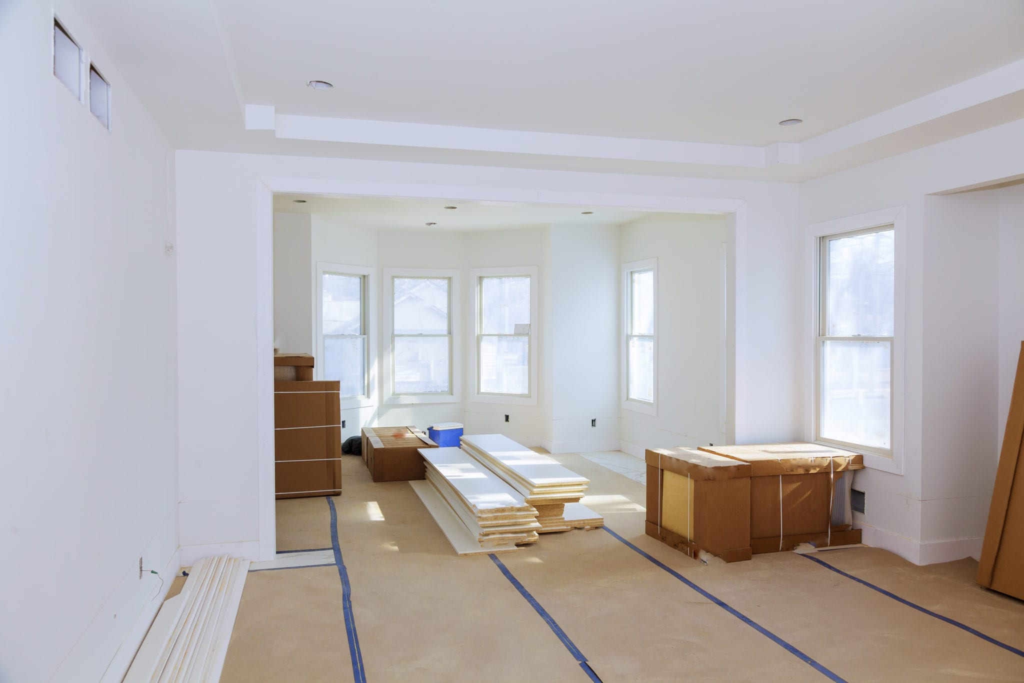 Construction building industry drywall tape and finish details new home construction interior