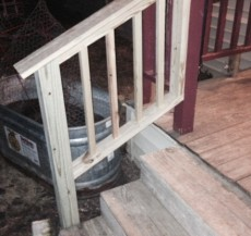 Wounded Warrior Family Support Home Repair Porch Handrail